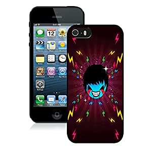 Beautiful DIY Designed With Scary Kid Cover Case For iPhone 5S Black Phone Case CR-562