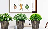 The Bloom Times Fake Plant for Bathroom/Home Decor, Small Artificial Faux Greenery for House Decorations (Potted Plants) Set of 3Pcs