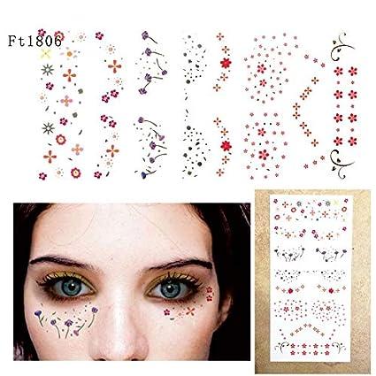 Cara Ojos Tattoo Pegatinas Tatuajes temporales de maquillaje para ...