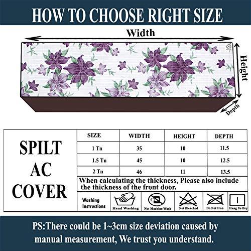 JM Homefurnishings Waterproof and dustproof Split AC Cover for Voltas 1.5 Ton 5 Star Inverter (185v JZJ R32) (Coffee Colour) India 2021