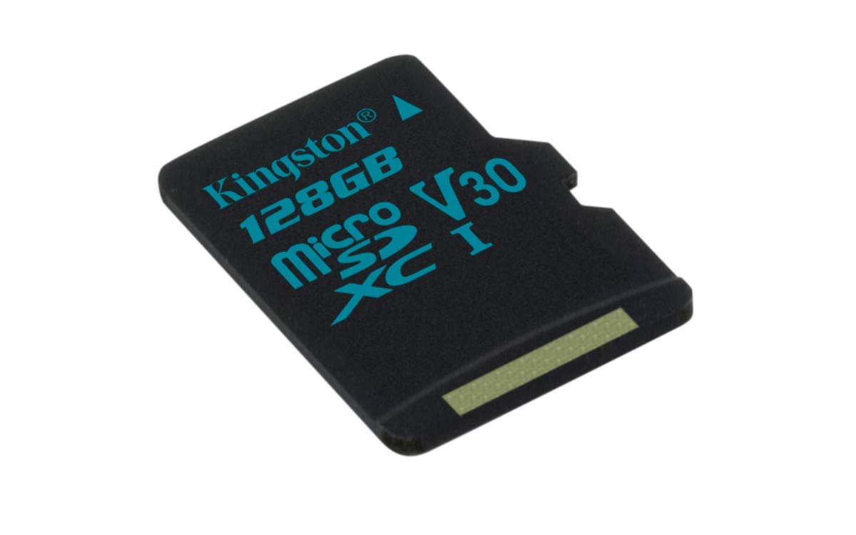 Kingston Canvas Go! 128GB microSDXC Class 10 microSD Memory Card UHS-I 90MB/s R Flash Memory Card with Adapter (SDCG2/128GBET)