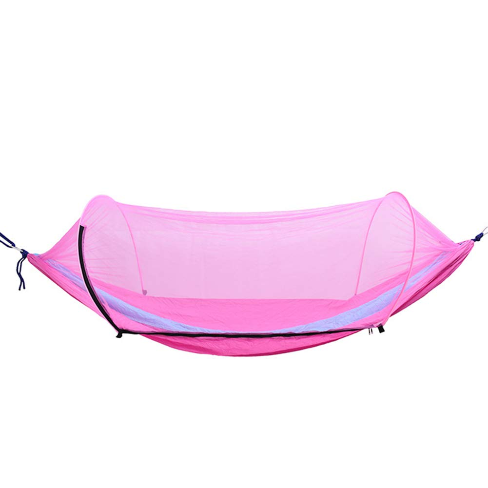 Camping Hammock Mosquito Net Outdoor Travel Sleeping Hammock Bed Anti Mosquito Camping Hammock Outdoor Supplies Pink and Blue 1Set by NS