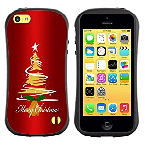 Suave TPU GEL Carcasa Funda Silicona Blando Estuche Caso de protección (para) Apple Iphone 5C / CECELL Phone case / / Christmas Tree Star Art Drawing Lights Merry /