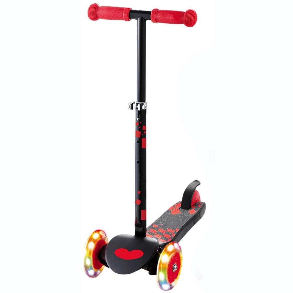 印象のデザイン キックスクーター三輪車スケートボードペダル式乗用スタントスクーターLED折りたたみTバーハンドルライトアップホイール付き調節可能な Red B07HCWZDX5 B07HCWZDX5 Red, ブランドジェイズ:0a2ba496 --- a0267596.xsph.ru