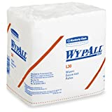 Kimberly-Clark Professional Wypall L30 Wipers - 13'' Length X 12-1/2'' Width, White, 90 Wipers