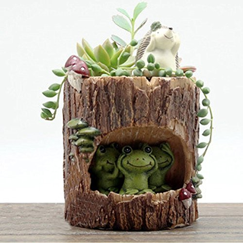 Cute Green Frog Flower Sedum Succulent Pot Planter Bonsai Trough Box Plant Bed Office Desk Home Garden Pot Decor