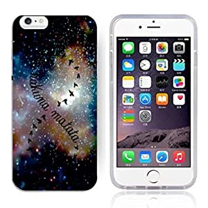 """Africa Ancient Proverb HAKUNA MATATA Color Accelerating Universe Star Design Pattern HD Durable Hard Plastic Case Cover for iPhone 6 (4.7"""") by runtopwell"""