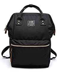 Black Backpack For Women, Lightweight Urban Minimalist Small Large Travel Laptop Bookbag Diaper Bag For Men Boys...