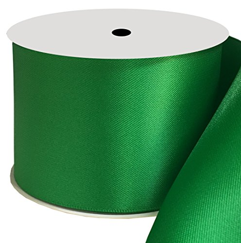 Duoqu 2 inch Wide Double Face Satin Ribbon 10 Yards Emerald