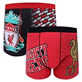 Liverpool FC Official Gift 2 PAIR Pack Mens Crest Boxer Shorts Large