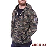 Grunt Style Fleece Men's Full Zip Hoodie, Color Camo, Size XXL