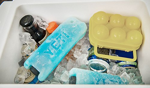 "YETI ICE Refreezable Reusable Cooler Ice Pack 5 Impact Resistant No puddles to drain or clean Freezes faster and stays colder longer Dimensions:8"" x 5 3/8"" x 1 3/5"""