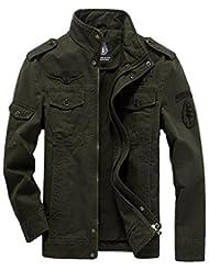 Jinmen Men's Fashion Cotton Jackets Military Air Force Bomber Jackets