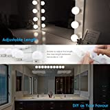 URPOWER Vanity Lights, 16.4ft 10LED Adjustable Hollywood Style LED Vanity Mirror Lights USB Powered Make-up Lights for Vanity Mirror with Dimmable White Lights for Makeup Mirror, Mirror Not Include