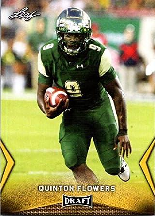 2018 Leaf Draft Gold  45 Quinton Flowers South Florida Bulls Football Card 5cee39d78