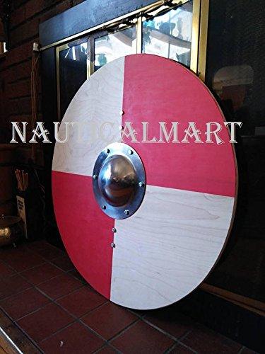 NauticalMart Renaissance Armor Viking Round Shield 25'' by NAUTICALMART