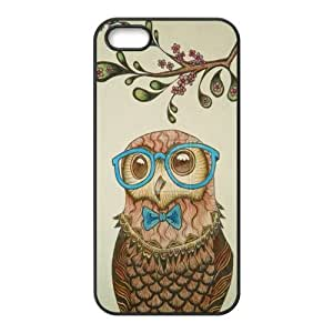Custom Personalized Hipster Owl Back Cover Case TPU for iphone 5,5S JN5S-1072
