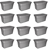 Sterilite 30 Gallon Tote Box- Steel Case of 12