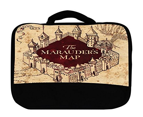 The Marauders Map Hogwarts Castle Design Print Image Canvas Lunch Bag by Trendy Accessories
