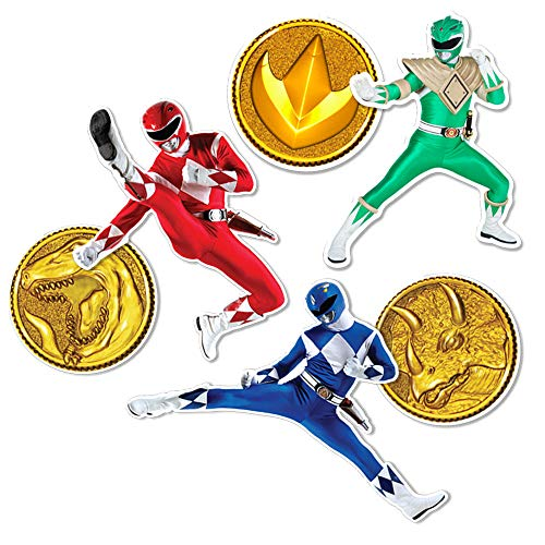 (Popfunk Power Rangers Collectible Stickers with Red, Blue and Green Rangers)