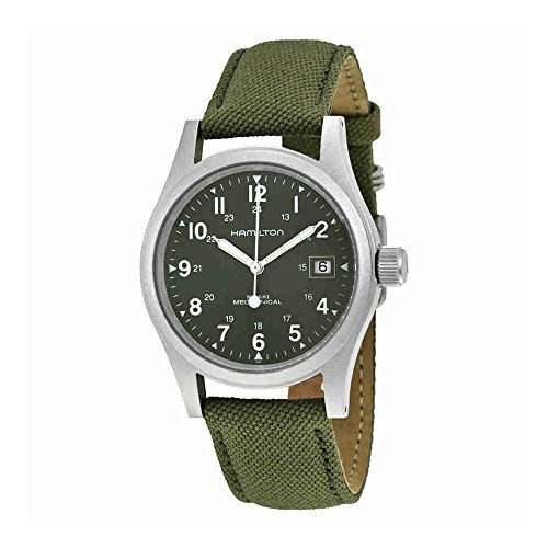 Hamilton Field Watch (Hamilton Men's HML-H69419363 Khaki Field Green Strap Analog Hand wind Stainless Steel Watch)