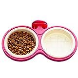 Da.Wa Cats Dogs Dedicated Food Basin Can Be Hung Pet Food Basin Double Bowl Pet Food Basin