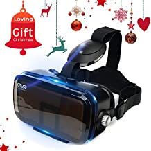 More Lighter More Comfort - ETVR 3D Upgraded Virtual Reality Headsets Immersive Large Screen Experience VR Headset Fit For iPhone 6s/6 Plus/LG/Samsung Galaxy Smartphones ( 4.5-6.2 Inches )
