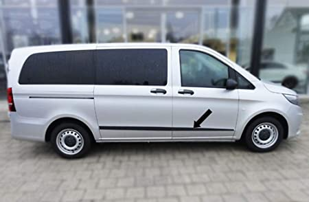Spangenberg Listones de protección Lateral, Color Negro, para Mercedes Benz Clase V Vito W447 a Partir del año de fabricación 03.2014 - F52M (370015201): Amazon.es: Coche y moto