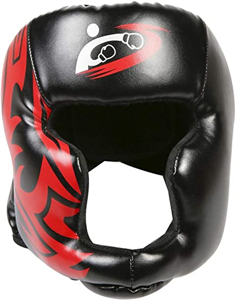 Sanda Training Helmet Head Protective Gear Mask Guard Protector Headgear Adult