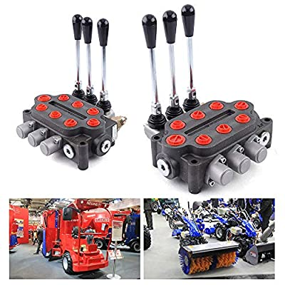 3 Spool 25 GPM Hydraulic Valve Tractors Loaders Double Acting Directional Control Valve Double Acting Cylinder Spool 3000PSI from QIZHI