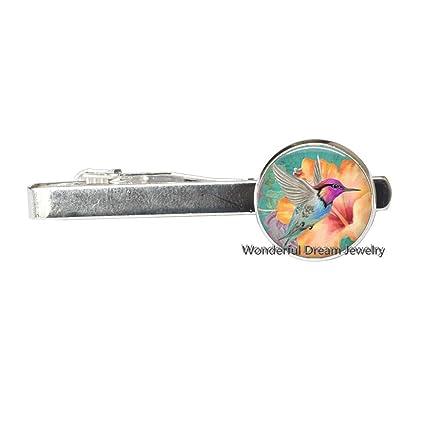 Pajarita de colibrí con clip para atar pájaros y cristal, diseño ...
