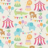 The Gift Wrap Company 1/4 Ream Wrapping Paper, Circus Pals