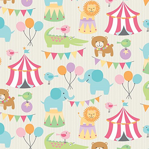 The Gift Wrap Company 1/4 Ream Wrapping Paper, Circus Pals by The Gift Wrap Company