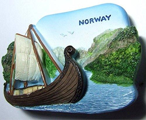 - Viking Ship Museum NORWAY Souvenir Fridge Magnet Toy Set 3D Resin Collection