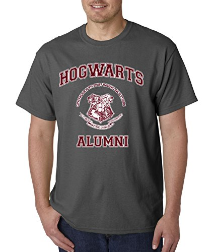 (New Way 129 - Unisex T-Shirt Hogwarts Alumni Harry Potter School 3XL Charcoal)