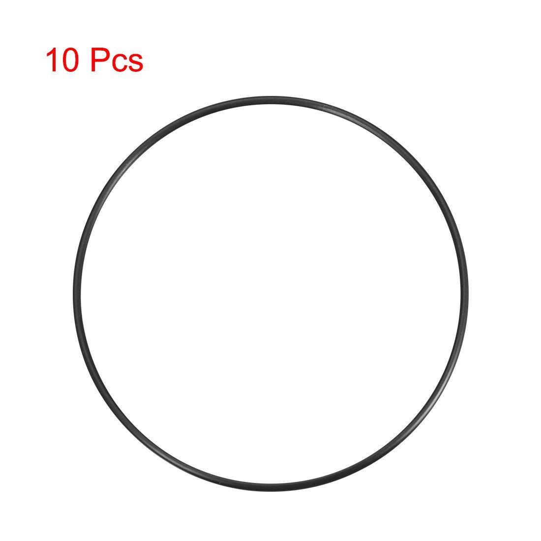10-Round Seal Gasket Package 3.1 mm Width O-Rings Nitrile Rubber 125 mm Outer Diameter 118.8 mm Inner Diameter