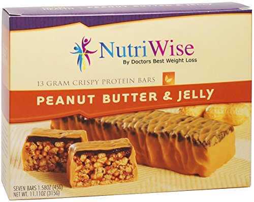NutriWise - Peanut Butter & Jelly Crunch Diet Protein Bars (7 bars)