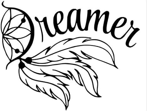 Etiqueta de la pegatina para el parachoques del coche Fashion Dreamer FEATHER Dream Catcher Decals Vinilo para auto 15 * 11.8CM 2 piezas: Amazon.es: Bricolaje y herramientas