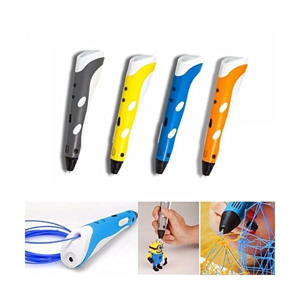 REES52 ABS/PLA Filament Professional Creativity 3D Printing Drawing Pen, 3 x 1.75mm (Orange)