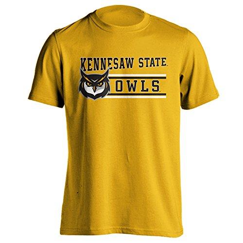 Kennesaw State University Owls Ksu Classic Mascot Short Sleeve T Shirt  Gold  2X Large