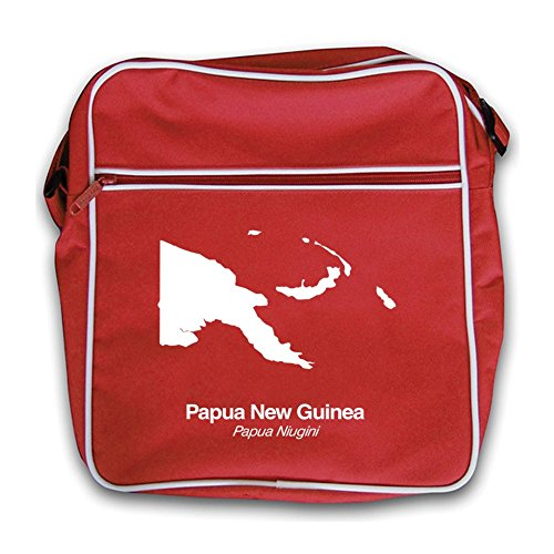 Bag New New Red Bag Red Guinea Papua Silhouette Guinea Papua Retro Flight Silhouette Retro Flight Red qwxHF