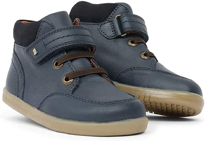 semelle souple et r/ésistante doublure en cuir Une chaussure en cuir de serrage Bobux I-Walk Timber Boot/_Marinantes