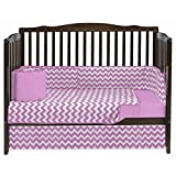 BabyDoll Chevron Dot Crib Bedding Set, Pink