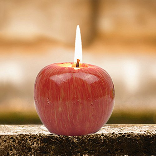 UNAKIM --Christmas Decoration Apple Shaped Scented Candles Simulation Fruit Creative (Yoshi Custome)