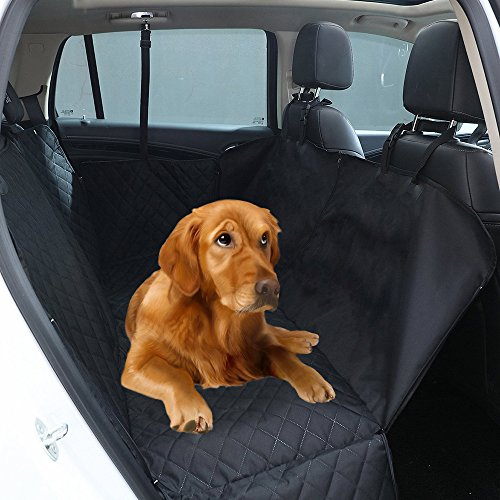 Bestom Dog Car Seat Covers Car Cover for Dogs Pet Seat Cover with Side Flaps Hammock Convertible, Scratch Proof, Durable and Washable Pet Back Seat Covers for Cars Trucks and SUVs Review