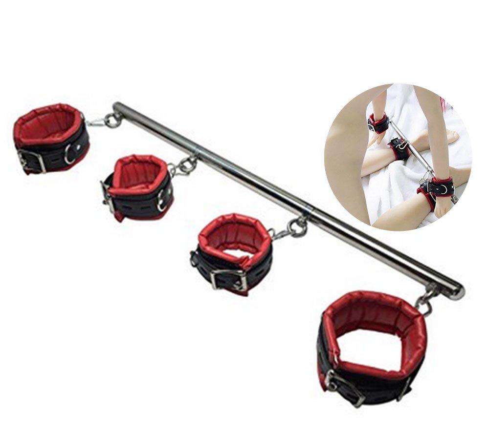 Pavian Hand Wrist & Leg Cuffs Straps Tie Set Copules Bed Strap Set Kit Valentine's Day Present (black2)