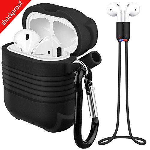 Case for AirPods,Bepack Shock Resistant Airpods Ear Hook, AirPods Silicone Protective Case with AirPods Hooks for Apple AirPods Charging Case Cover, Airpods Shock Proof Protective Cover