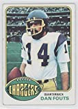 Dan Fouts COMC REVIEWED Good to VG-EX (Football Card) 1976 Topps #128
