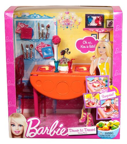 Tremendous Barbie Dinner To Dessert Dining Room Set Download Free Architecture Designs Itiscsunscenecom