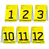 Beistle 57833 12-Pack PSI Table Cards, 41/4 by 3-Inch